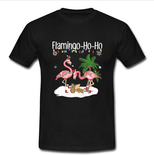 Flamingo ho ho Christmas shirt