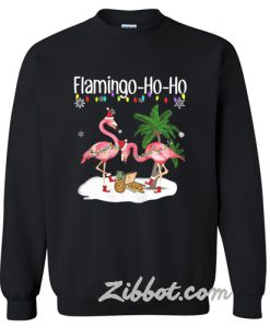 Flamingo ho ho Christmas sweatshirt