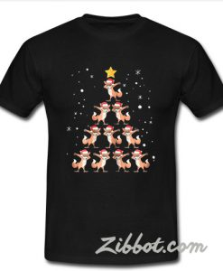 Fox Christmas tree shirt