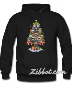 Horror characters nightmare christmas tree hoodie