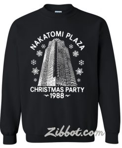 Nakatomi plaza Christmas party 1988 sweatshirt