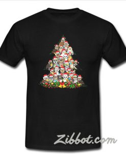 Owl Christmas tree shirt