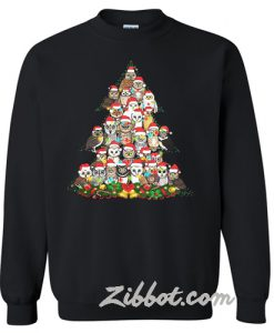 Owl Christmas tree sweatshirt