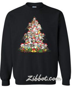 Owl Christmas tree sweatshirt