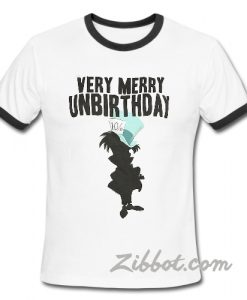 alice in wonderland very merry unbirthday Ring TShirt