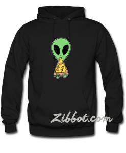 alien eat pizza hoodie