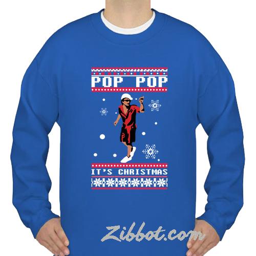 c460beaa bruno mars pop pop it's christmas sweatshirt