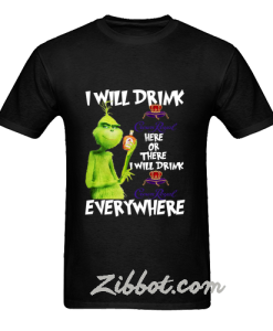 usa grinch i will drink crown royal here t shirt