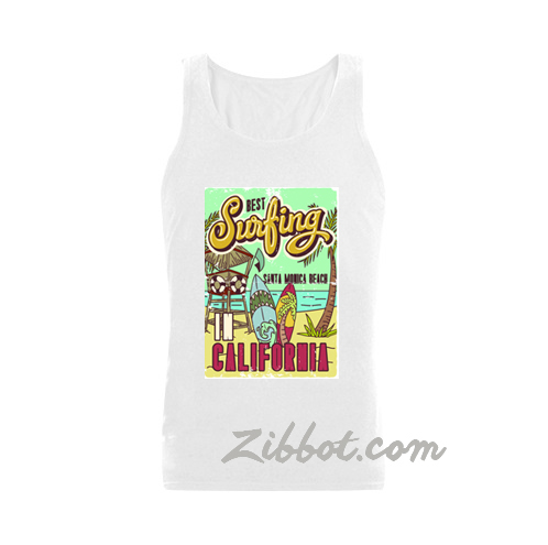 Best Surfing Santa Monica tank top