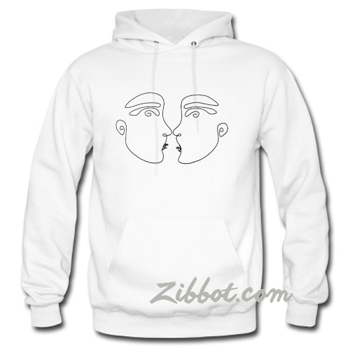 Abstract face hoodie