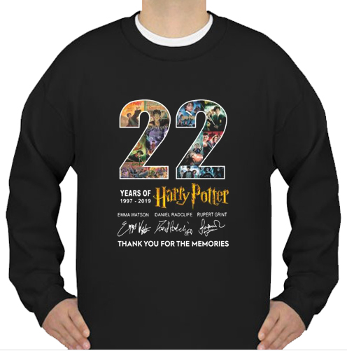 22 Years harry potter sweatshirt