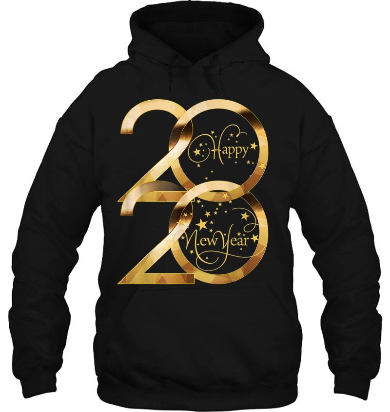 Happy New Year 2020 Gold Version hoodie