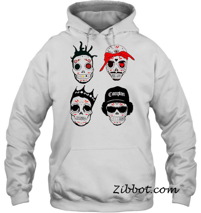 RIP MCs Gangsta Rapper Sugar Skull hoodie