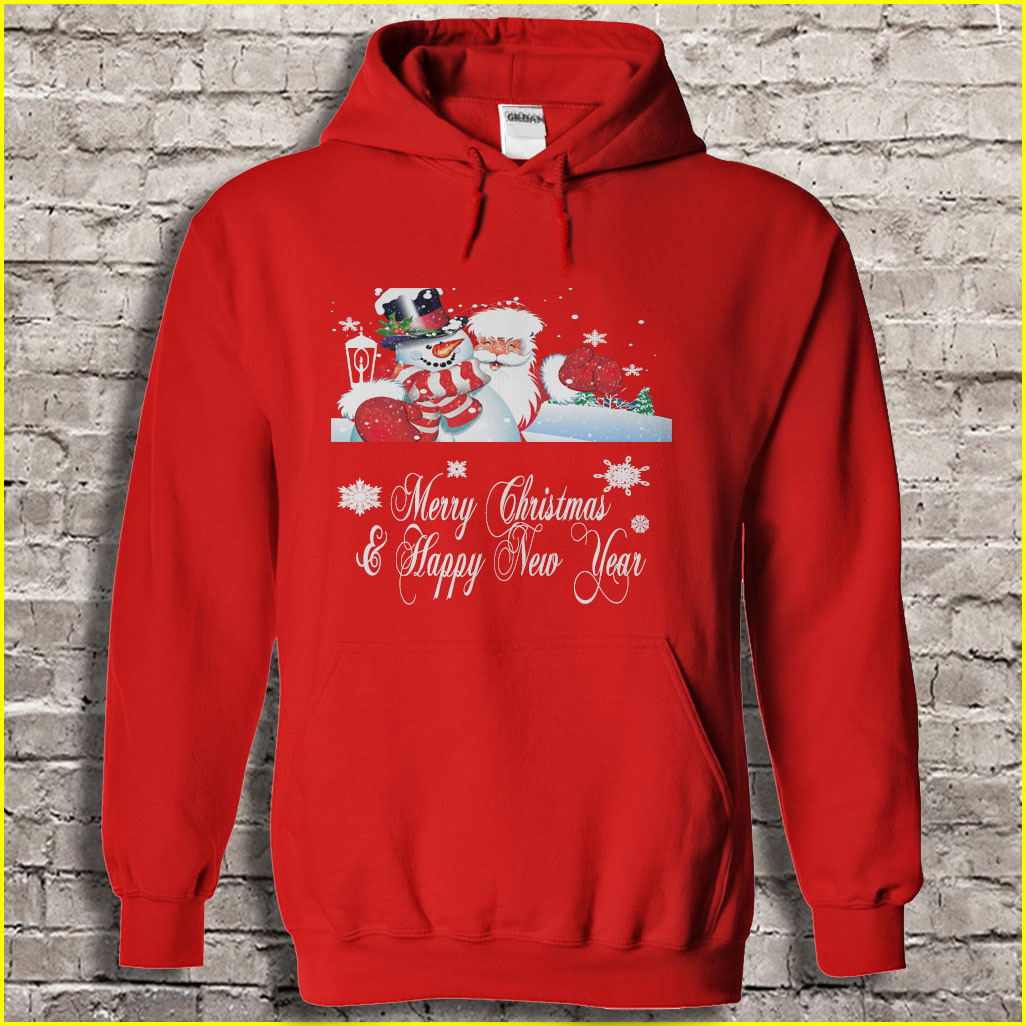 We wish you a Merry Christmas and a happy new year hoodie