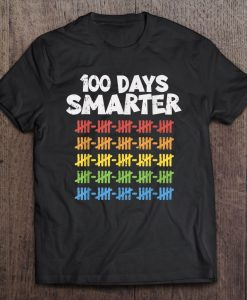 100 Days Smarter 100Th Day Of School Rainbow t shirt