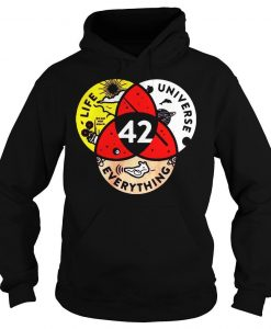 42 the answer to life the universe and everything hoodie