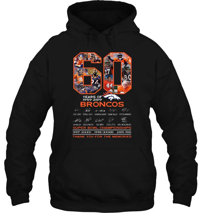 60 Years Of 1959-2019 Broncos hoodie