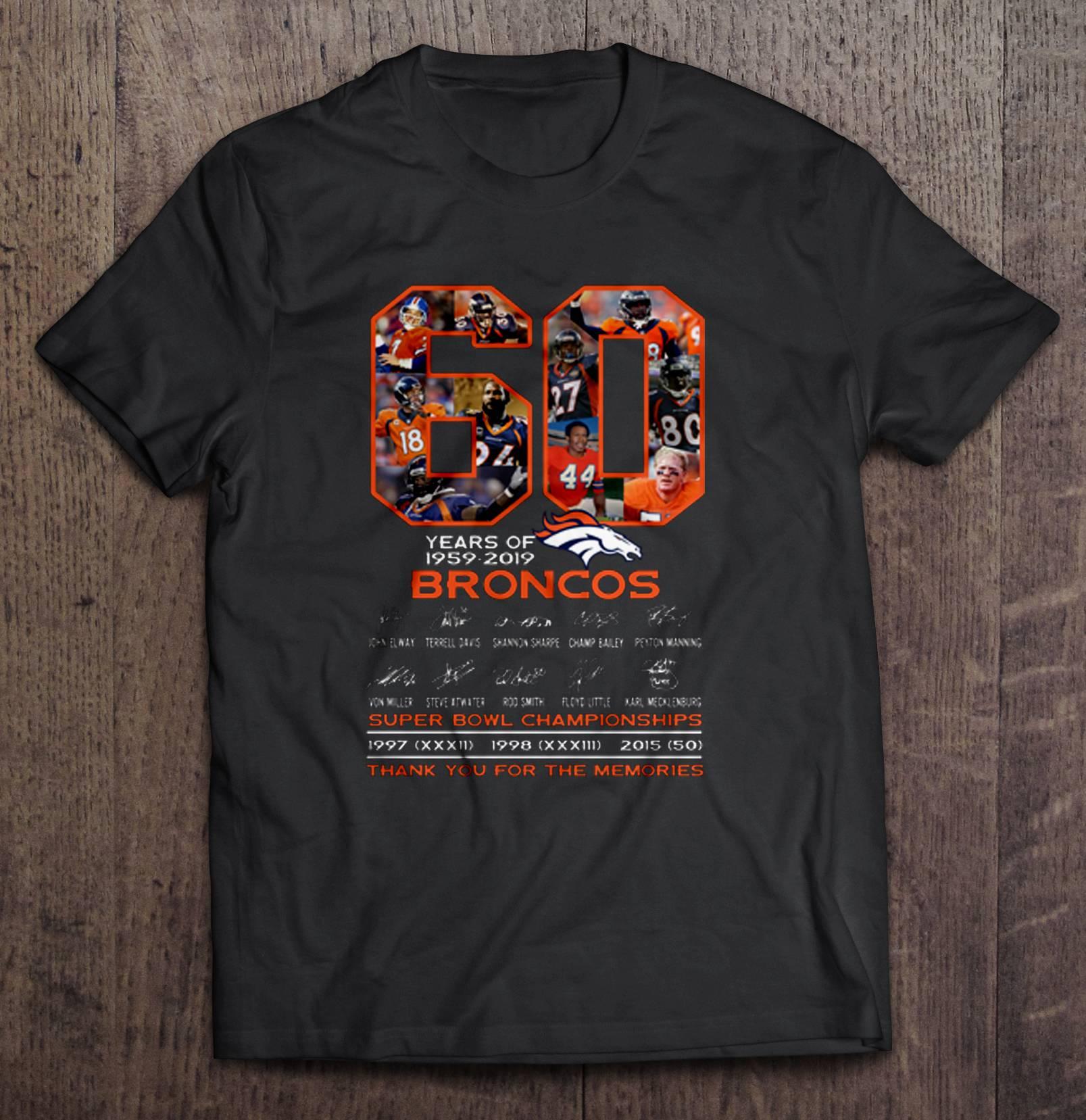 60 Years Of 1959-2019 Broncos tshirt