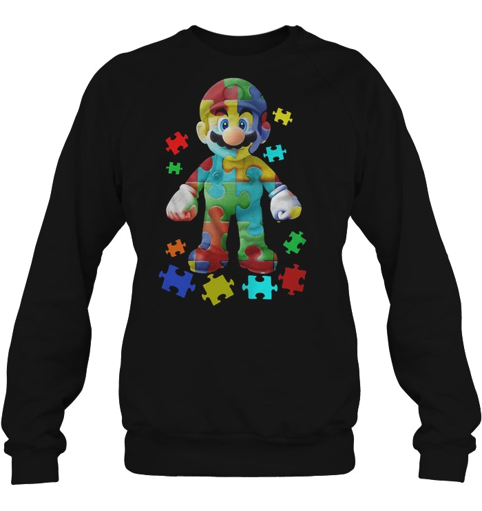 Autism Awareness Super Mario sweatshirt