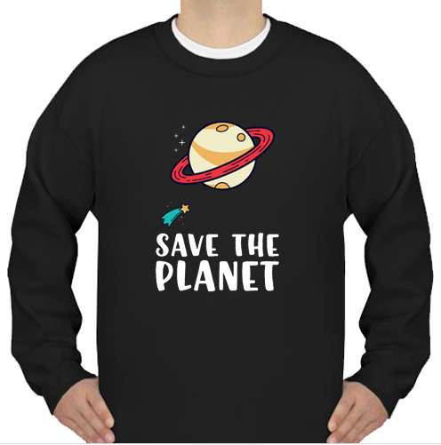 Save the Planet Save the Earth Distress sweatshirt