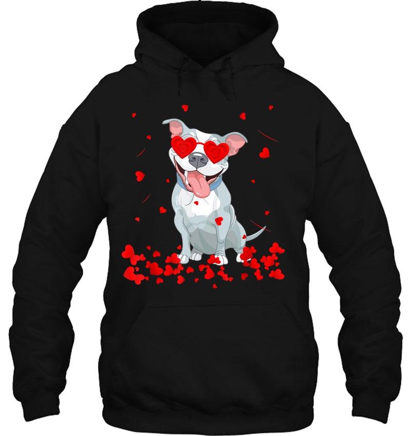 Valentine's Day Pitbull Dog Lover hoodie