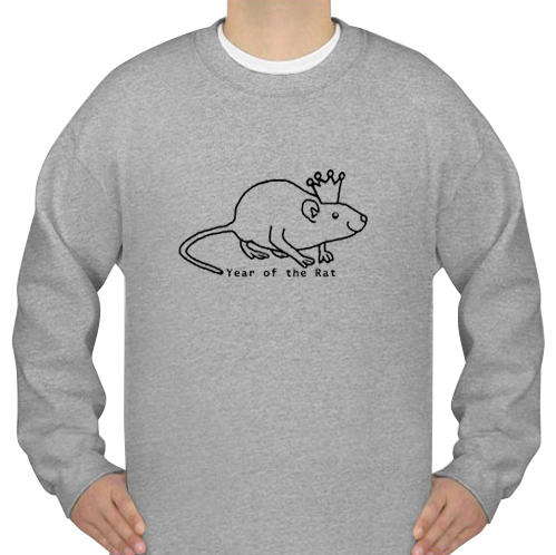 Year of the Rat with Crown sweatshirt
