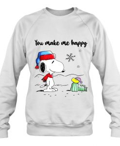 You Make Me Happy Snoopy And Woodstock sweatshirt