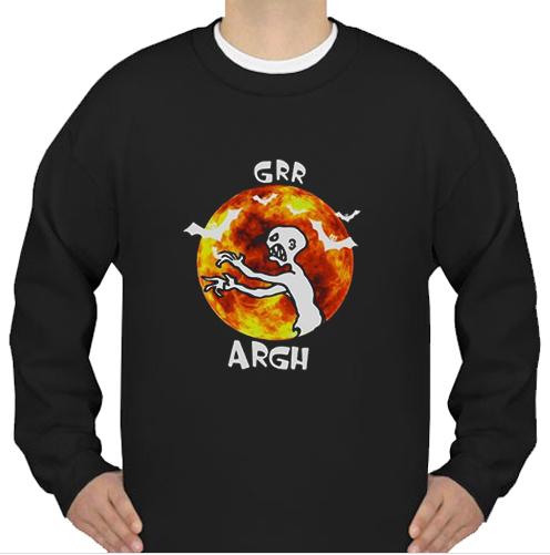Zombie vampire grr argh sweatshirt