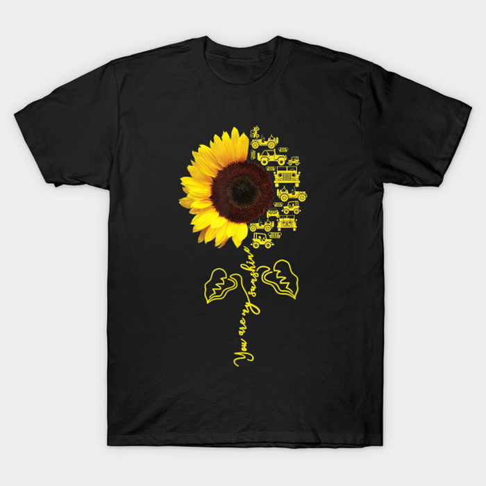 You Are My Sunshine Sunflower Jeep T-Shirt