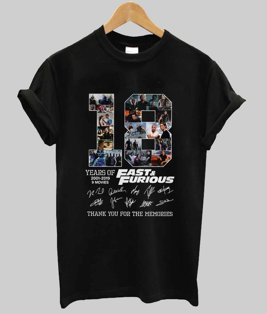18 year Fast and Furious t-shirt
