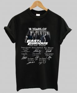 18 year Fast and Furious t shirt