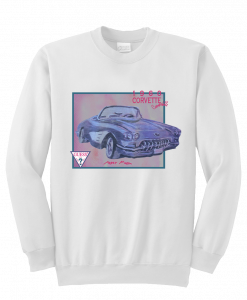 1960 corvette convertible sweatshirt