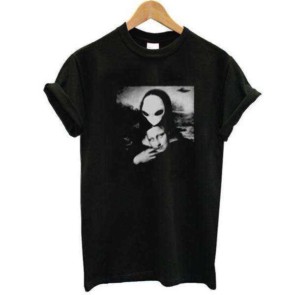 Alien Mona Lisa t shirt