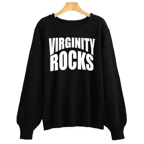 Virginity Rocks Crewneck sweatshirt