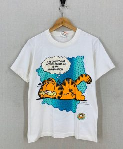 Vintage 80's Garfield Only Thing Active Is My Imagination t shirt