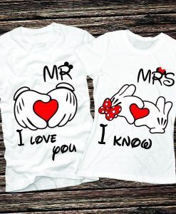 mr and mrs i love you i know t shirt